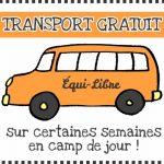 camps de jour transport